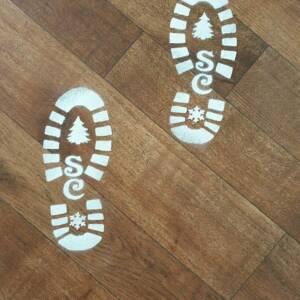 santa boots stencil