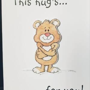 large teddy bear greeting card